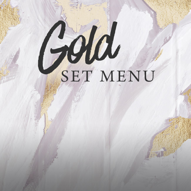 Gold set menu at The Castle