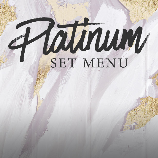 Platinum set menu at The Castle
