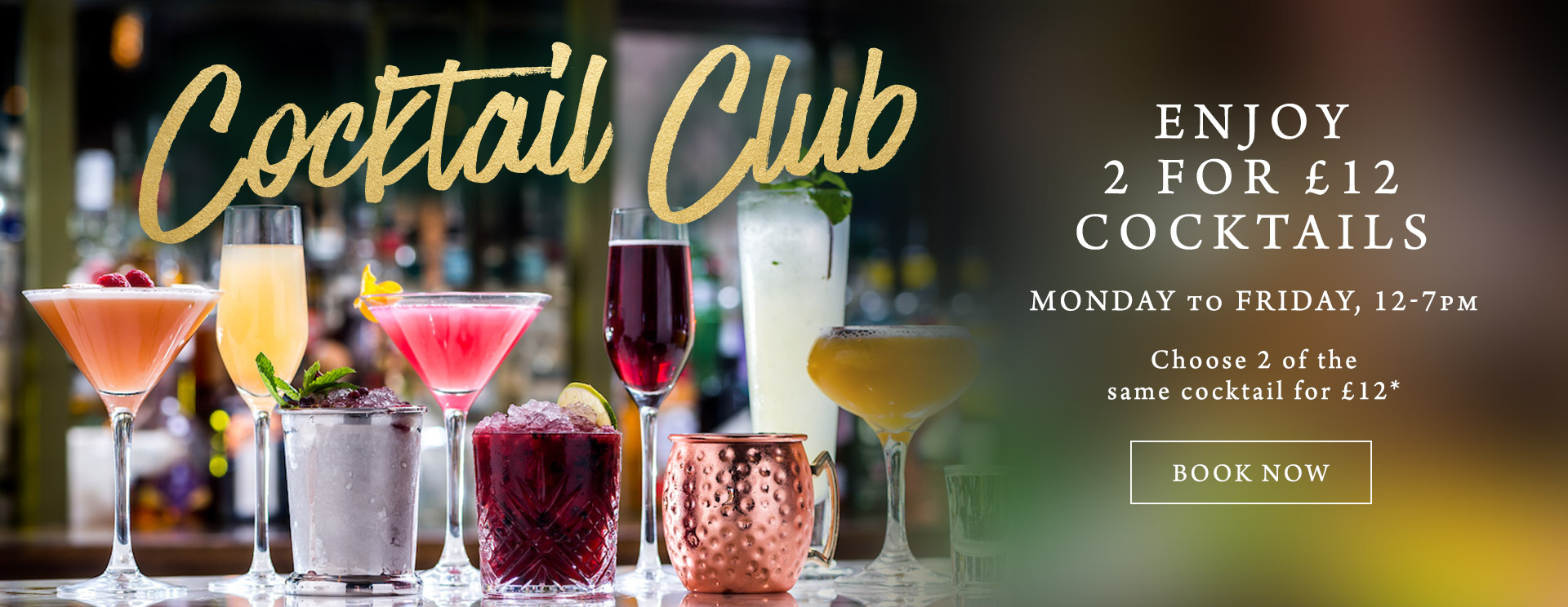 2 for £12 cocktails at The Castle